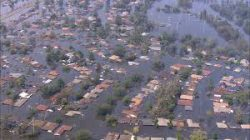 Picture of flooded homes